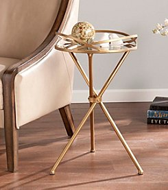 Southern Enterprises Leslie Metal Mirrored Accent Table