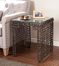 Southern Enterprises Loni Woven End Table