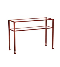 Southern Enterprises Metal/Glass Console Table