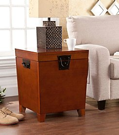 Southern Enterprises Nailhead End Table Trunk