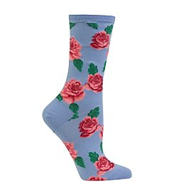 Hot Sox® Rose Print Socks