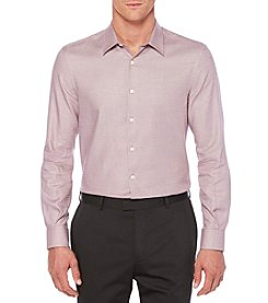 Perry Ellis® Men's Small Check Long Sleeve Shirt