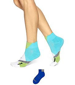 HUE® 2-Pack Color Blocked Low Rider Socks