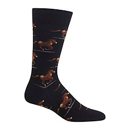 Hot Sox® Men's Racing Horse Crew Socks
