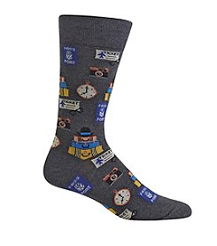 Hot Sox® Men's Travel Crew Socks