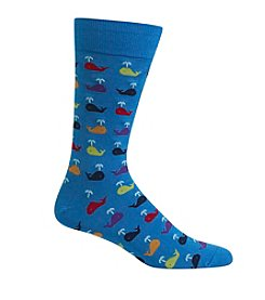 Hot Sox® Men's Whale Crewsocks