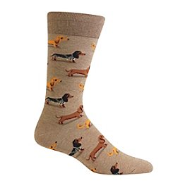 Hot Sox® Men's Dachshund  Crew Socks