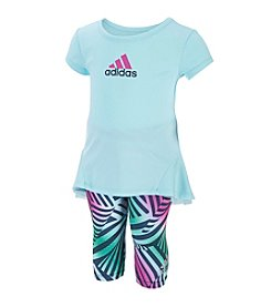 adidas® Baby Girls' 2-Piece Printed Capri Set