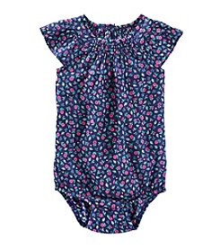 OshKosh B'Gosh® Baby Girls' 12-24 Month Floral Flutter Sleeve Bodysuit