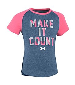 Under Armour® Girls' 2T-6X Make It Count Short Sleeve Tee