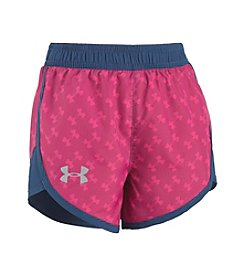 Under Armour® Girls' 2T-6X Logo Fast Lane Shorts