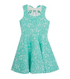 Rare Editions® Girls' 7-16 Bonded Lace Sleeveless Dress