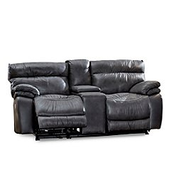 Lane® Windjammer Double Recline Power Rocking Console Loveseat