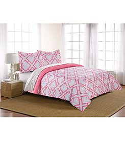 Living Quarters Reversible Microfiber Down-Alternative Lyla Geo Comforter