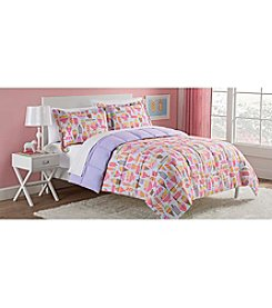 LivingQuarters Reversible Microfiber Down-Alternative Sweet Treats Comforter