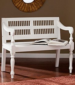 Southern Enterprises Solid Mahogany Turned-Leg Bench