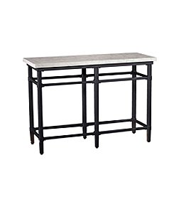Southern Enterprises Tulane Faux Marble Console Table