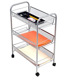 Mind Reader 'Roll'  Rolling 3-Shelf Cart