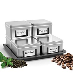Mind Reader 'Stax' 7-pc. Loose Leaf Tea and Coffee Canister Set