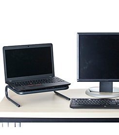 Mind Reader 'Collar' Monitor Stand with Keyboard Storage Space