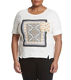 Democracy® Plus Size Tie Back Graphic Tee