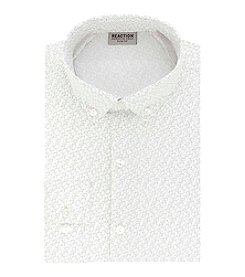 Kenneth Cole REACTION Technicole® Men's Stretch Collar with Tek Fit Microdot Dress Shirt