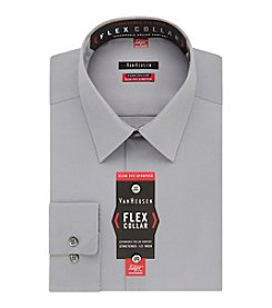 Van Heusen Men's Flex Collar Stretch Slim Fit Solid Dress Shirt