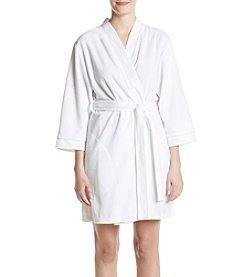 Jasmine Rose® Kimono Robe With Trim