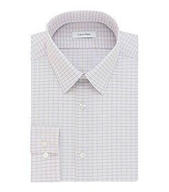 Calvin Klein Men's Slim Fit Checkered Dress Shirt