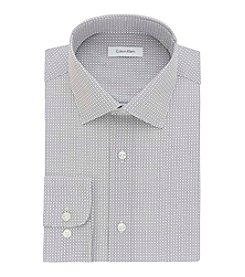 Calvin Klein Men's Long Sleeve Spread Collar Slim Fit Dress Shirt