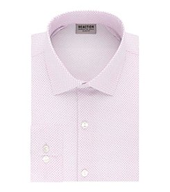 Kenneth Cole REACTION Technicole® Men's Stretch Collar with Tek Fit Dotted Slim Fit Dress Shirt