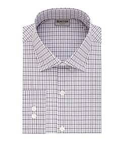 Kenneth Cole REACTION Technicole® Men's Stretch Collar with Tek Fit Plaid Slim Fit Dress Shirt