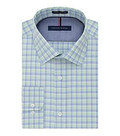 Tommy Hilfiger® Long Sleeve Slim Fit Plaid Dress Shirt
