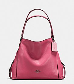 COACH EDIE SHOULDER BAG 31 IN POLISHED PEBBLED LEATHER