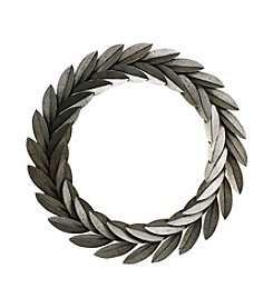 Farmhouse Metal Leaves Wreath