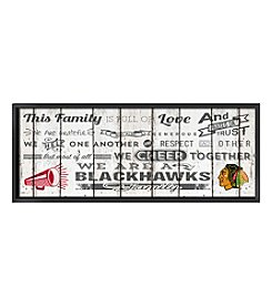 Kindred Hearts NHL® Chicago Blackhawks Family Cheer Wall Art