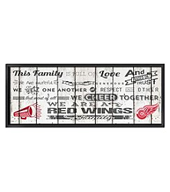 Kindred Hearts NHL® Red Wings Family Cheer Wall Art