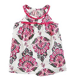 Carter's Girls' 2T-3T Floral Poplin Tank Top