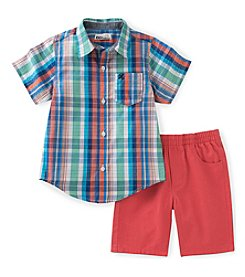 Kids Headquarters® Baby Boys' 2-Piece Shirt And Short Set