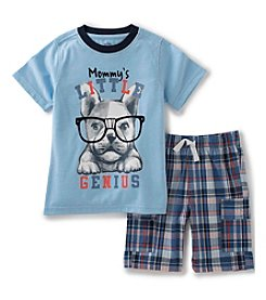 Kids Headquarters® Baby Boys' 2-Piece Bulldog Tee And Woven Short Set