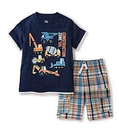Kids Headquarters® Baby Boys' 2-Piece Construction Tee And Short Set