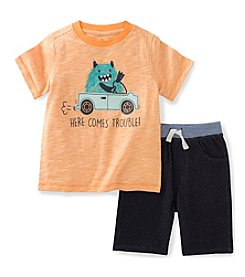 Kids Headquarters® Baby Boys' 2-Piece Trouble Tee And Short Set