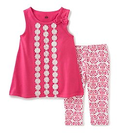 Kids Headquarters® Baby Girls' 2-Piece Tunic Top And Leggings Set