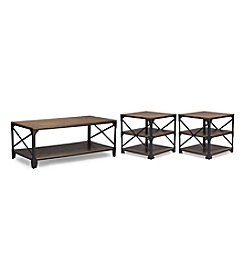 Baxton Studios Greyson 3-Pc. Table Set