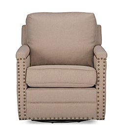 Baxton Studios Ashley Swivel Armchair