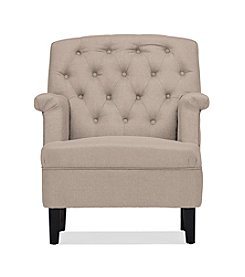 Baxton Studios Jester Button-Tufted Armchair