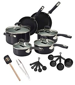 Guy Fieri 21-pc. Black Nonstick Aluminum Cookware Set with Tools