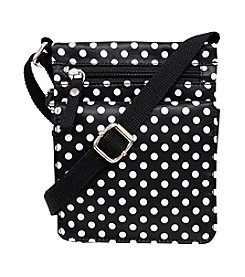 GAL Printed Nylon Mini Flap Crossbody With Back Organizer