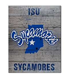 Kindred Hearts NCAA® Indiana State Sycamores Road To Victory Pallet Wall Art