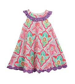 Rare Editions® Girls' 2T-6X Damask Printed Dress